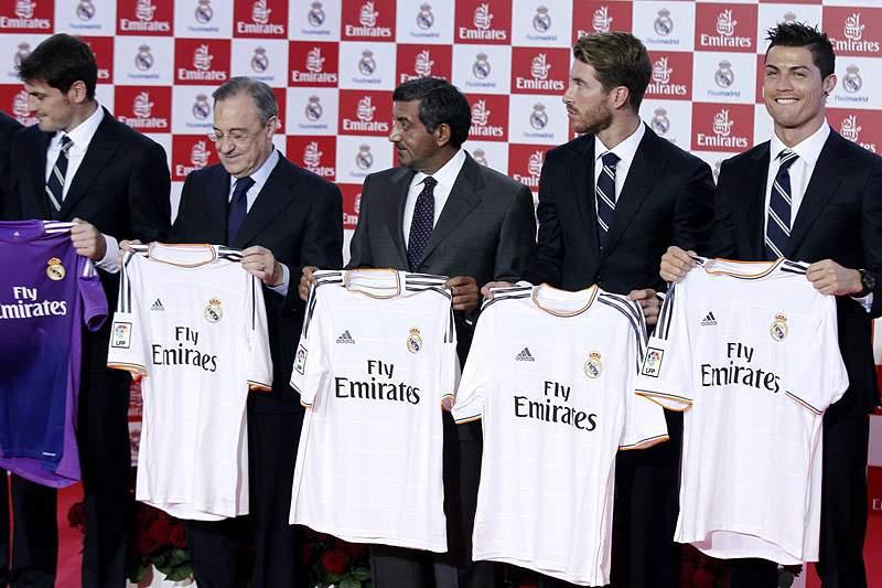 Real Madrid patrocinado pela Emirates até 2018