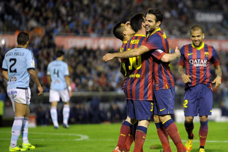 Barcelona vence e passeia nos Balaídos