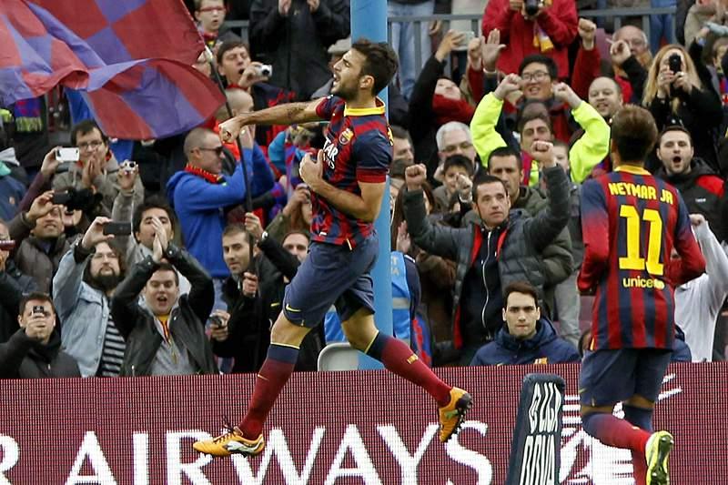 Messi viu de fora a goleada do Barcelona