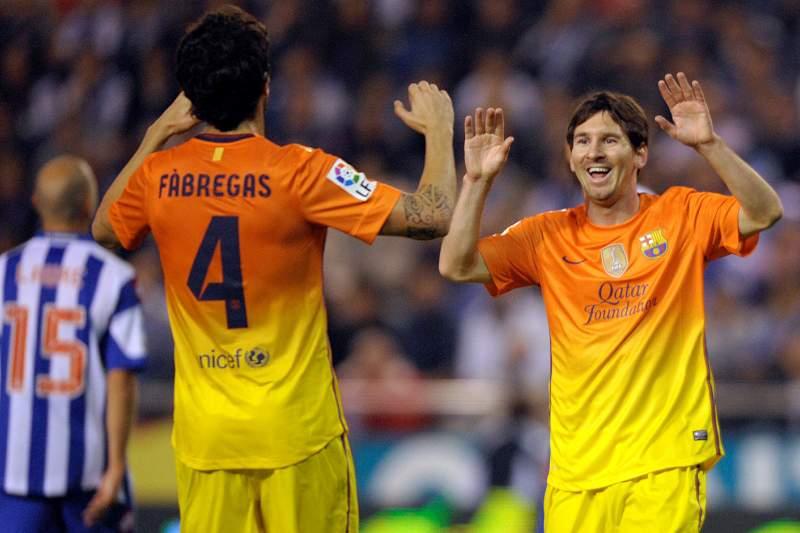 Messi e Cesc nos 18 eleitos para a estreia na Liga espanhola