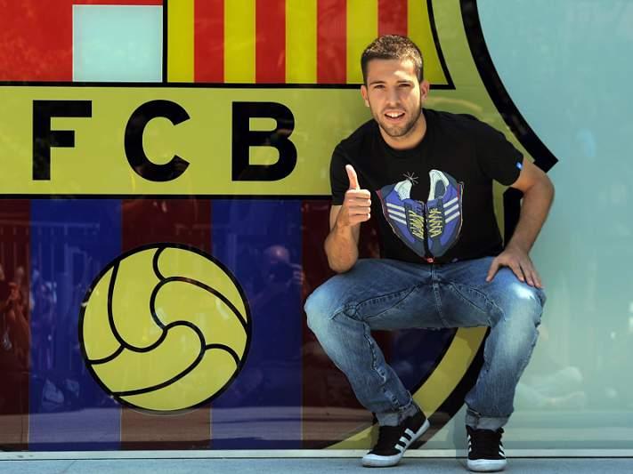 Jordi Alba treina em pleno