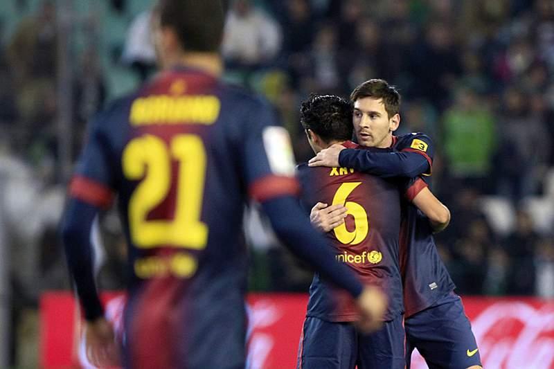 Messi brilhou na vitória difícil do Barcelona
