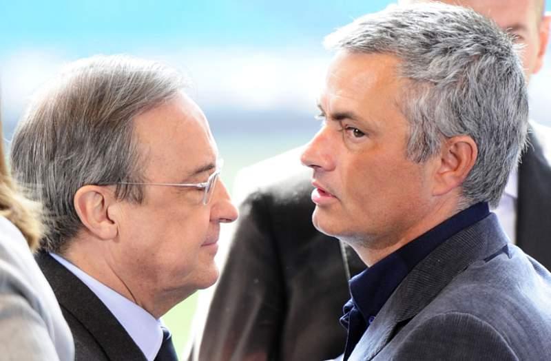 Mourinho felicitou Florentino Pérez depois da 10.ª