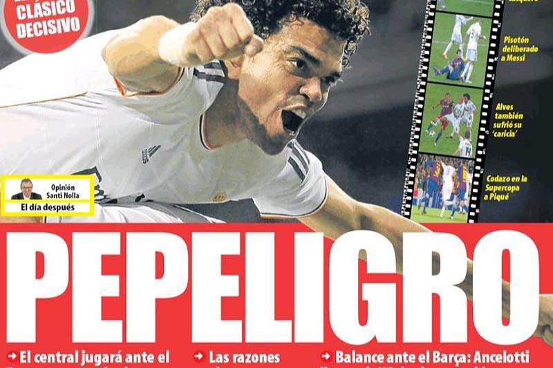 Diário catalão ataca Pepe antes do clássico