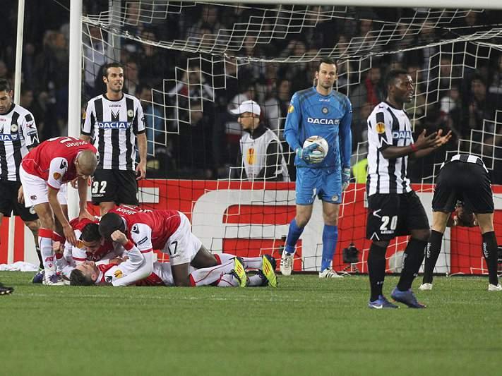 Udinese considera Braga um opositor «duro»