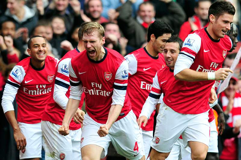 Arsenal provisoriamente no terceiro lugar