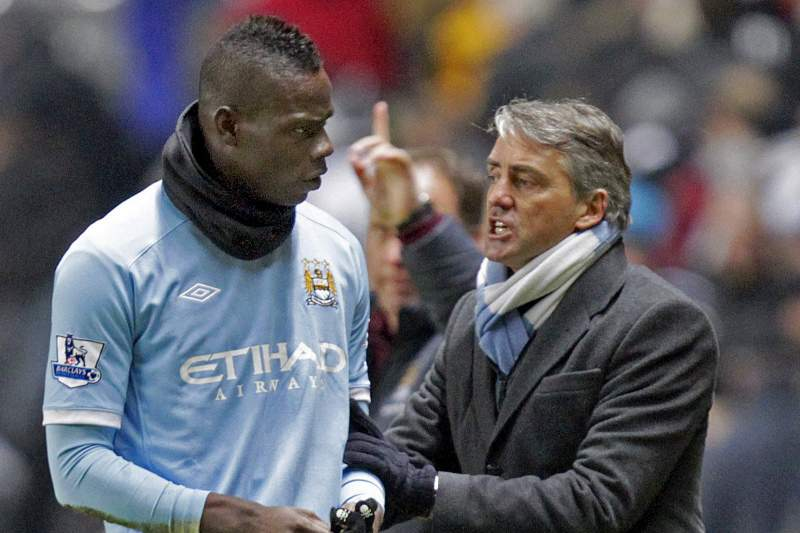 Mancini desvaloriza incidentes com Balotelli