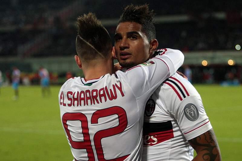 Boateng festeja um golo do Milan com El Shaarawy