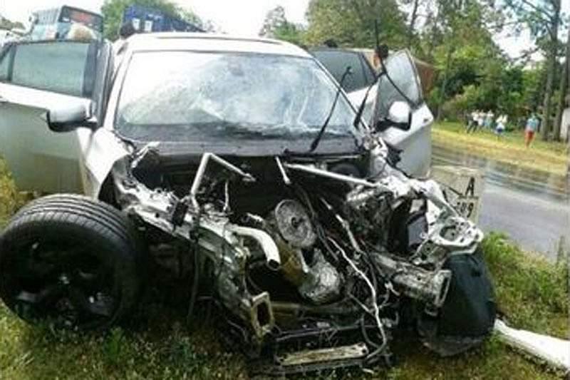 Iturbe escapa ileso a grave acidente de viação no Paraguai