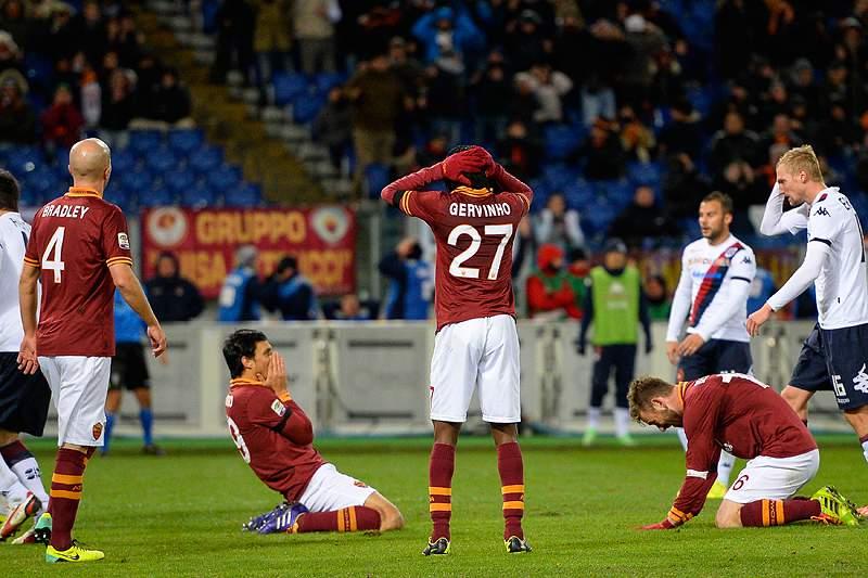 Roma entrega liderança à Juventus