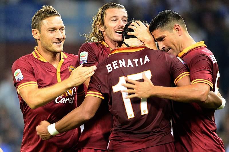 Festa do golo da AS Roma