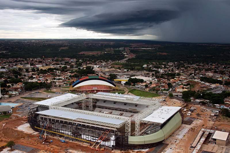 Operário morre electrocutado no Arena Pantanal, em Cuiabá