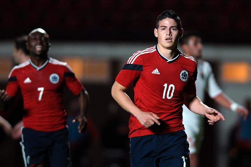 Colômbia vence Jordânia por 3-0