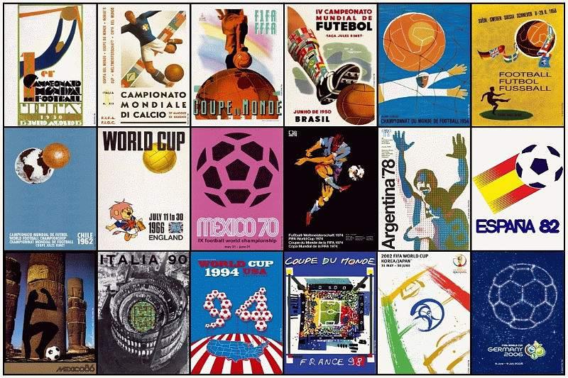 A evolução mundial dos Mundiais de futebol