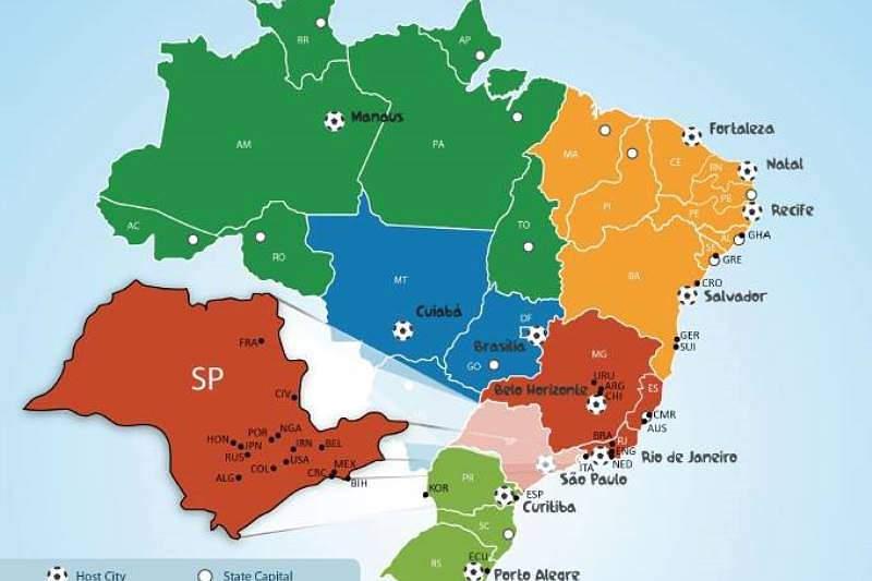 São Paulo é o estado que alberga mais seleções