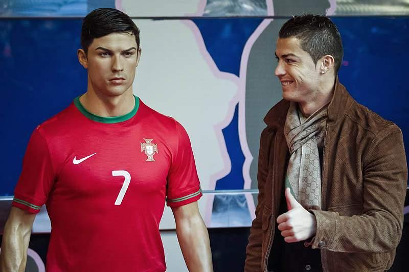 Cristiano Ronaldo imortalizado em Madrid