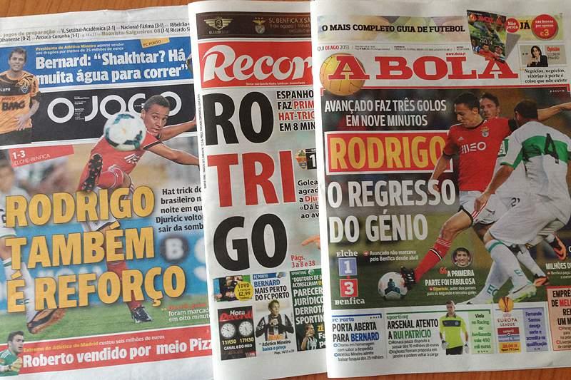 Escorregadelas de Benfica e FC Porto em destaque