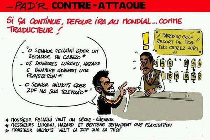 Defour, mesmo sem jogar, vai ser tradutor no Mundial 2014