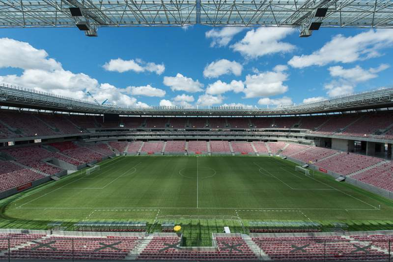 Sporting inaugura Arena Pernambuco com um empate