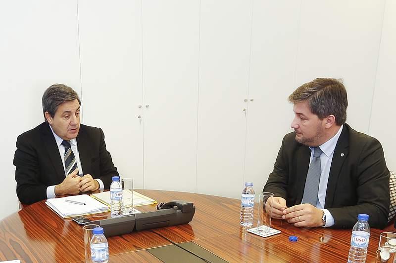 Bruno de Carvalho reuniu-se com Fernando Gomes na sede da FPF