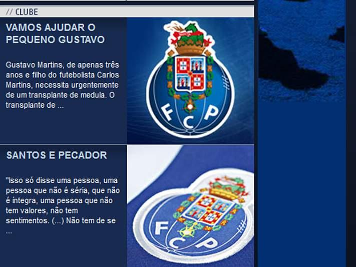 FC Porto une-se à campanha solidária pelo filho de Carlos Martins