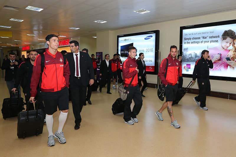 Comitiva portuguesa chega ao Azerbaijão