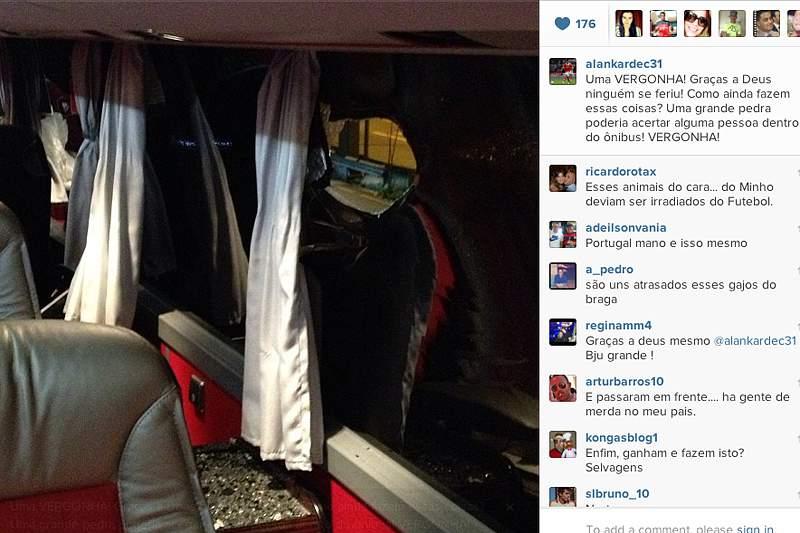 Ministério Público investiga apedrejamento do autocarro em Braga