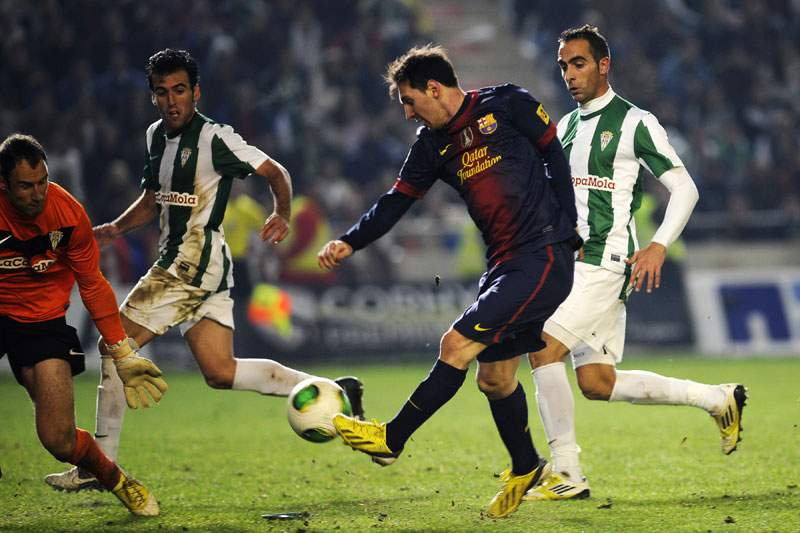 Lionel Messi bisa e atinge marca dos 88 golos num só ano.