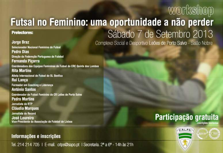 Leões de Porto Salvo promovem workshop