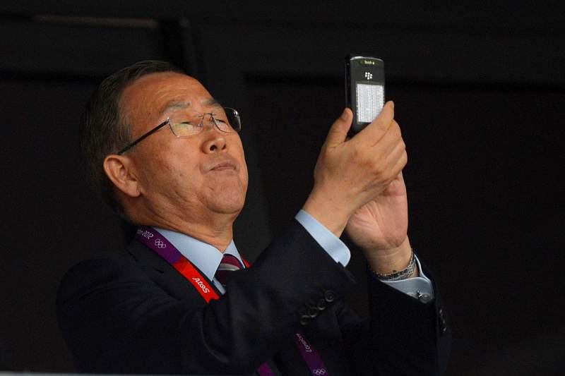 Secretário-geral da ONU na cerimónia de abertura