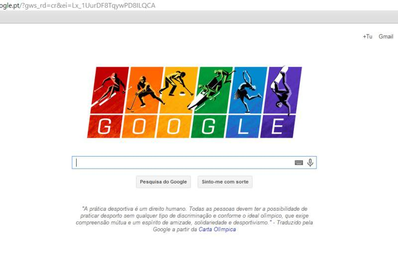 Google cria Doodle com cores da bandeira gay