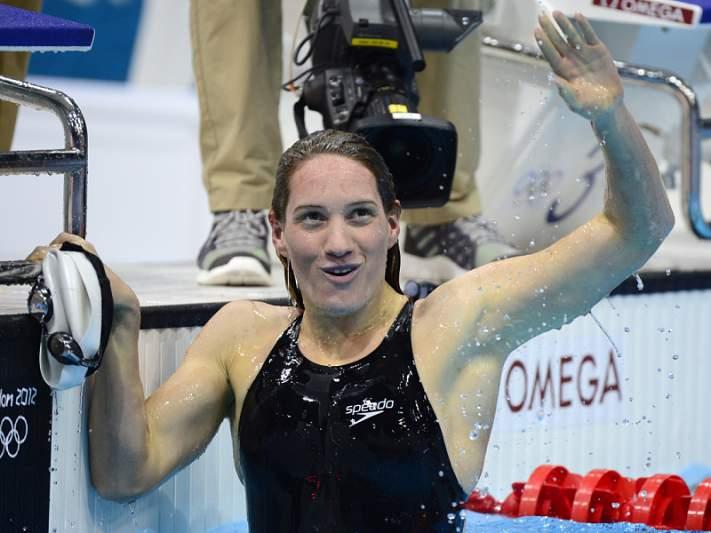 Muffat de ouro nos 400 livres, com recorde olímpico