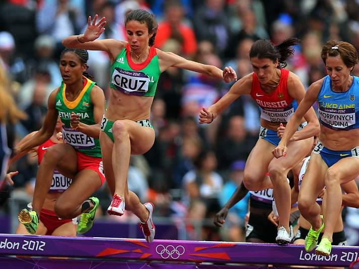 Clarisse Cruz na final dos 3 mil metros obstáculos