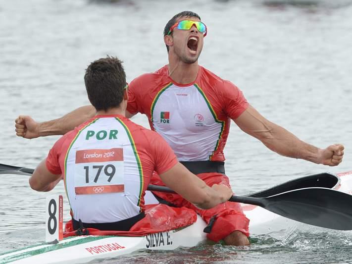 Portugal medalha de prata em K4 masculino