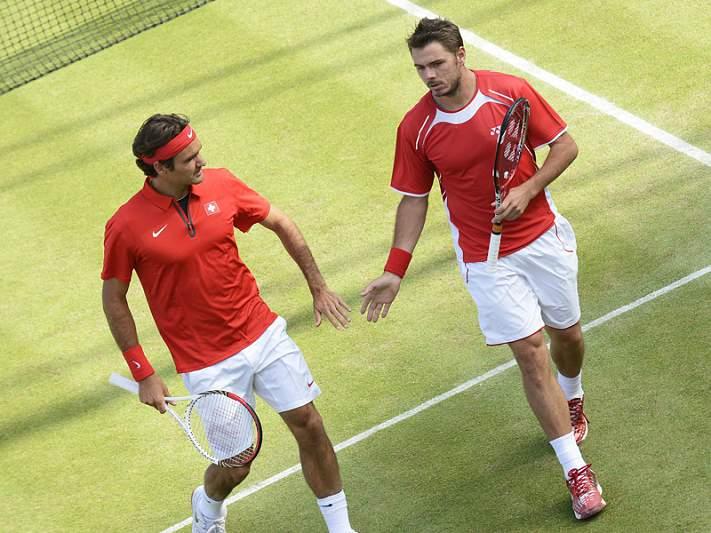 Federer e Wawrinka eliminados em pares