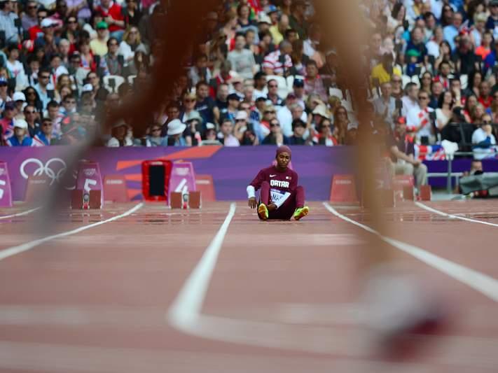 Primeira mulher qatari abandonou eliminatórias dos 100m