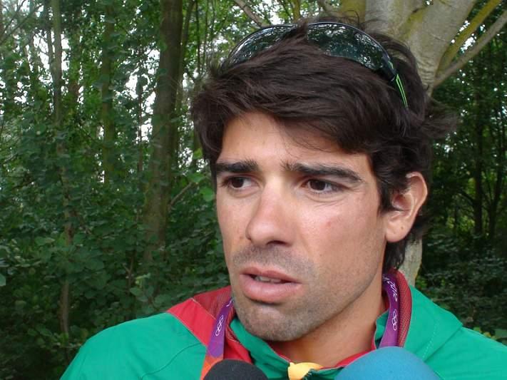 Pedro Fraga na final A de skiff