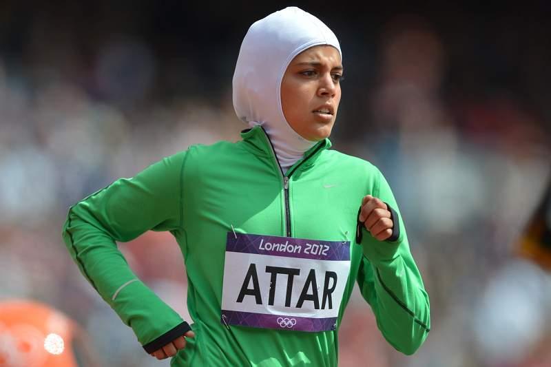 Sarah Attar quebra barreiras sauditas em Londres