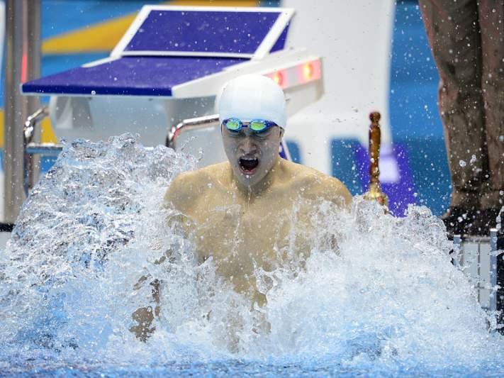 Sun Yang de ouro nos 1.500 livres, com recorde mundial