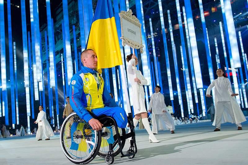Ucrânia contou apenas com o porta-estandarte na abertura