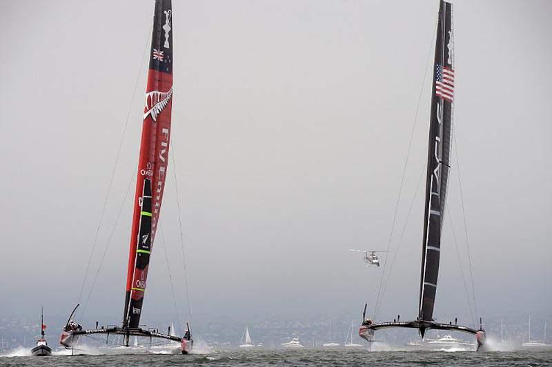 Oracle Team USA anula vantagem do Team New Zealand