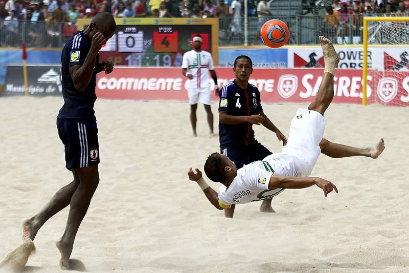 Portugal goleia Japão no Mundialito