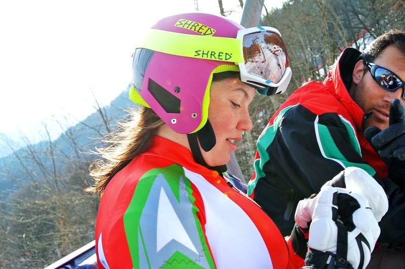 Camille Dias termina slalom gigante na 59ª posição