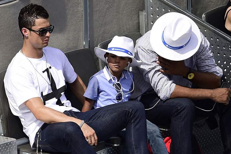 Cristiano Ronaldo levou o filho ao Masters de Madrid