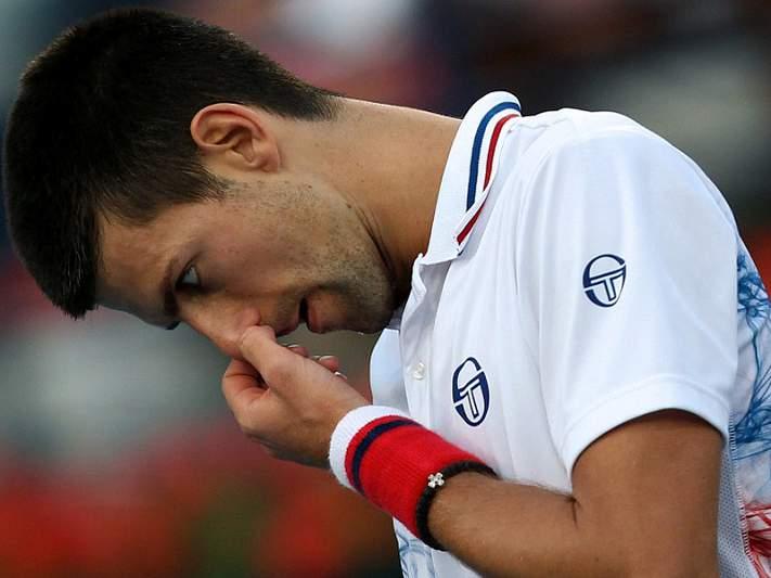 O campeão Djokovic caiu nos