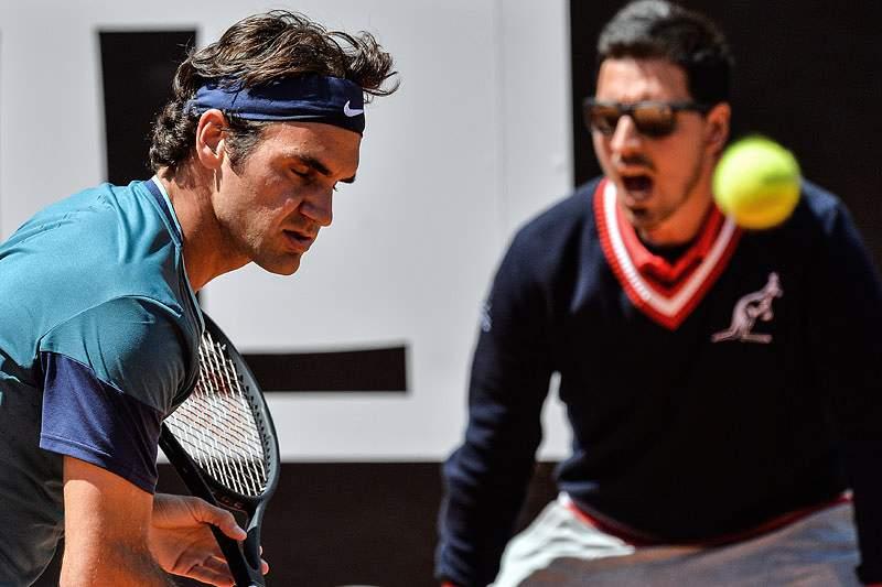 Federer eliminado na segunda ronda do torneio de Roma
