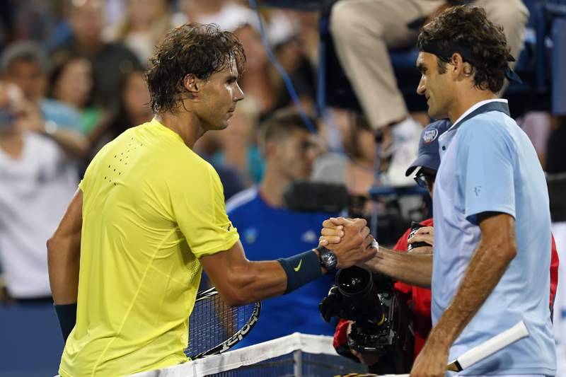 Nadal venceu Federer e segue para as meias-finais