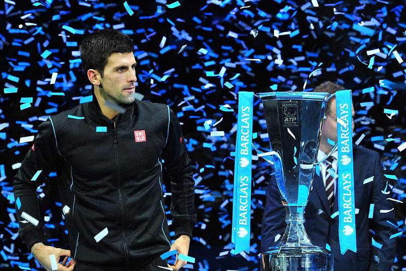 Djokovic partilha vitória com a sua equipa