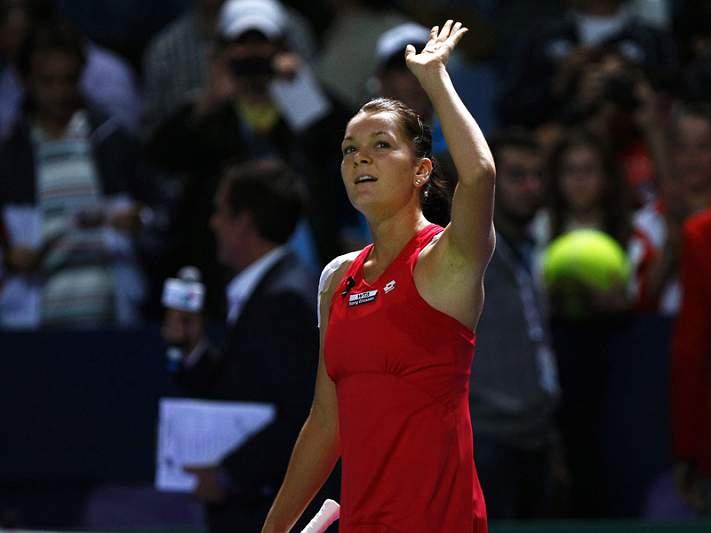 Agnieska Radwanska pela primeira vez na final