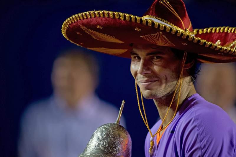 A festa do tenista espanhol teve direito a um 'sombrero' mexicano